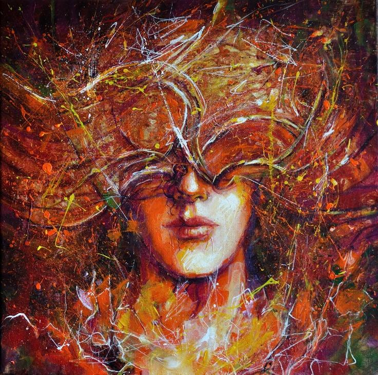 Autumn  acryl on canvas  40x40 cm