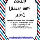 Library Book Labels (Guided Reading, Fav Characters & Prim