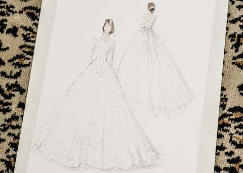 Peter Copping designs his first wedding dress at Oscar de la Renta–and the results are breathtaking