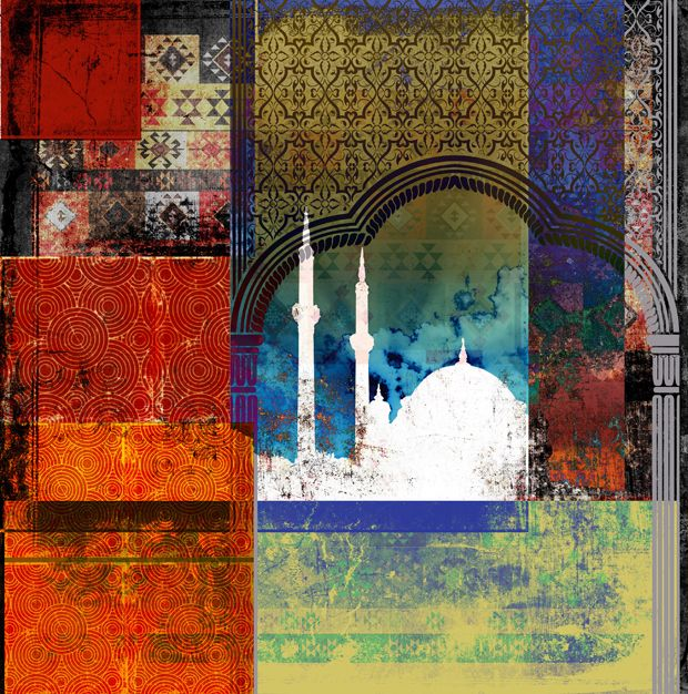 Middle Eastern MosaicArtist : Greg SedgwickMedia : Textured fine art paper