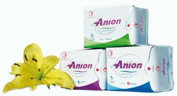 pembalut wanita pertama di dunia yang menggunakan teknologi Anion teknologi Jepang untuk kesehatan wanita dan telah dipatenkan di 162 negara.   http://anion-napkins.blogspot.com/