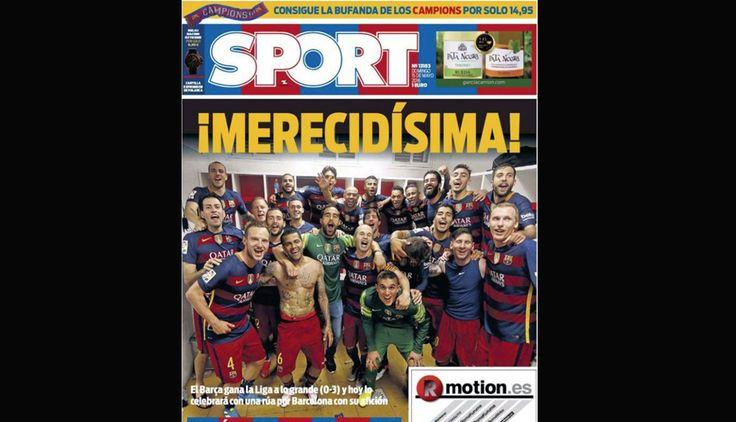 Barcelona campeón: así informan los diarios del mundo su título de Liga BBVA. Mayo 15, 2016.