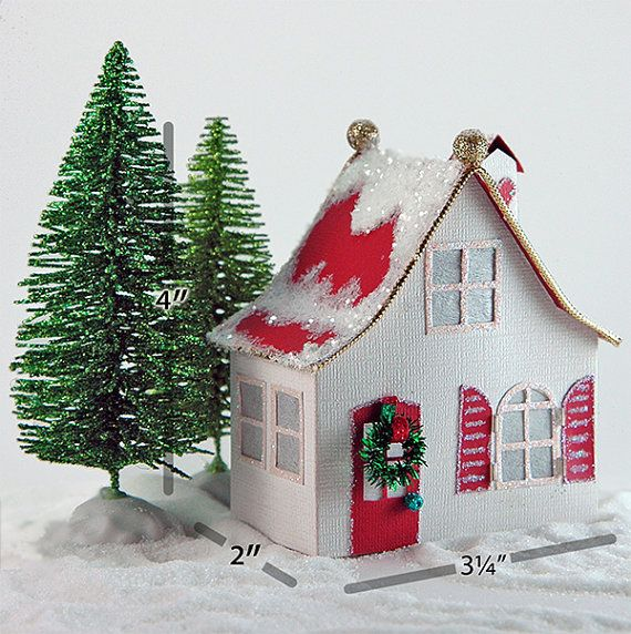 The Carlie  A Miniature Christmas Village House PDF Template