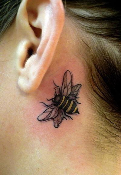 25 Fabulous Bumble Bee Tattoo Designs Of 23 Photos