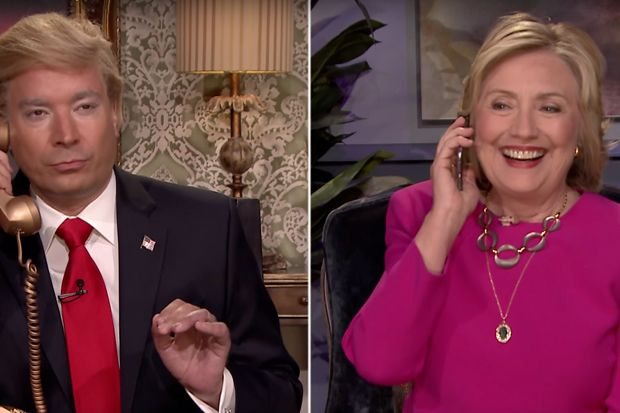 Hillary Clinton Takes Aim at Donald Trump on Jimmy Fallon's Talk Show