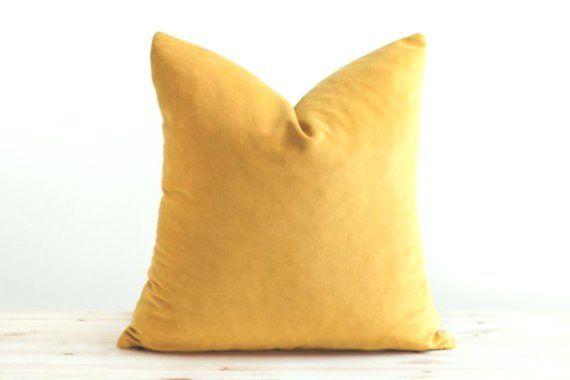 Mustard Velvet Pillow Cover Mustard Yellow Velvet Cushion Solid Mustard Throw Mustard Throw Pillow Yellow Throw Pillows Velvet Pillows