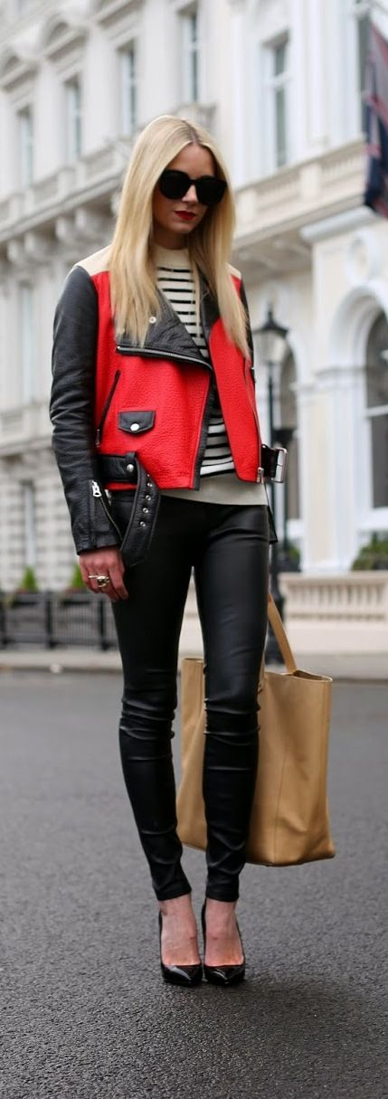 Winter Fashion 2013. Leather in London. Chic and sleek! ::M::
