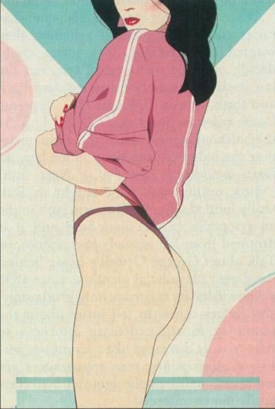 . Patrick Nagel · Illustration · 80's                                                                                                                                                      Plus