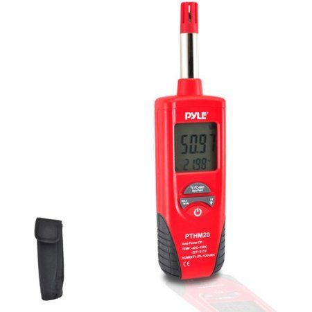 Pyle-Meters Temperature and Humidity Meter with Dew Point and Wet Bulb Temperature