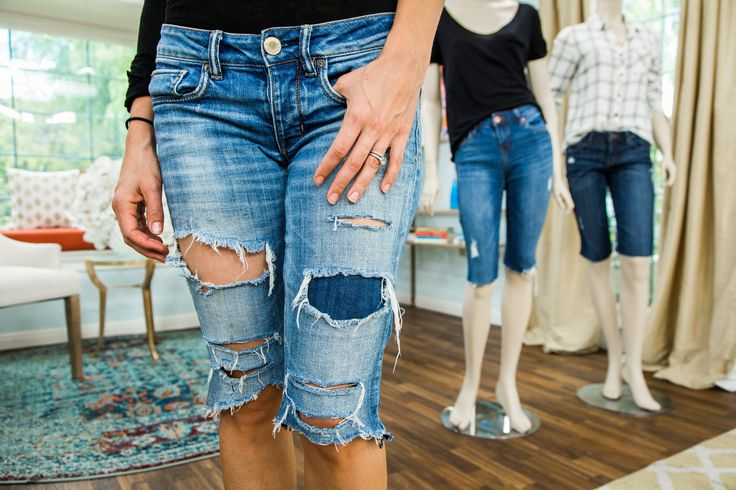 Give an old pair of jeans a new life with Orly Shani's DIY Long Jean Shorts! Looking for more great DIYs? Tune in to Home & Family weekdays at 10a/9c on Hallmark Channel!
