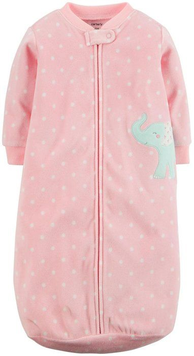 Carter's Baby Girls' Dot Sleepsack (Baby) - Elephant - One Size