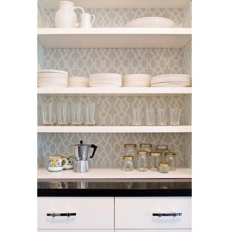 shelving paper kitchen cabinets use our nottingham damask design for a similar look 26050