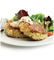 Healthy Crab Cakes Recipe Ingredients & Directions :: FitToDo