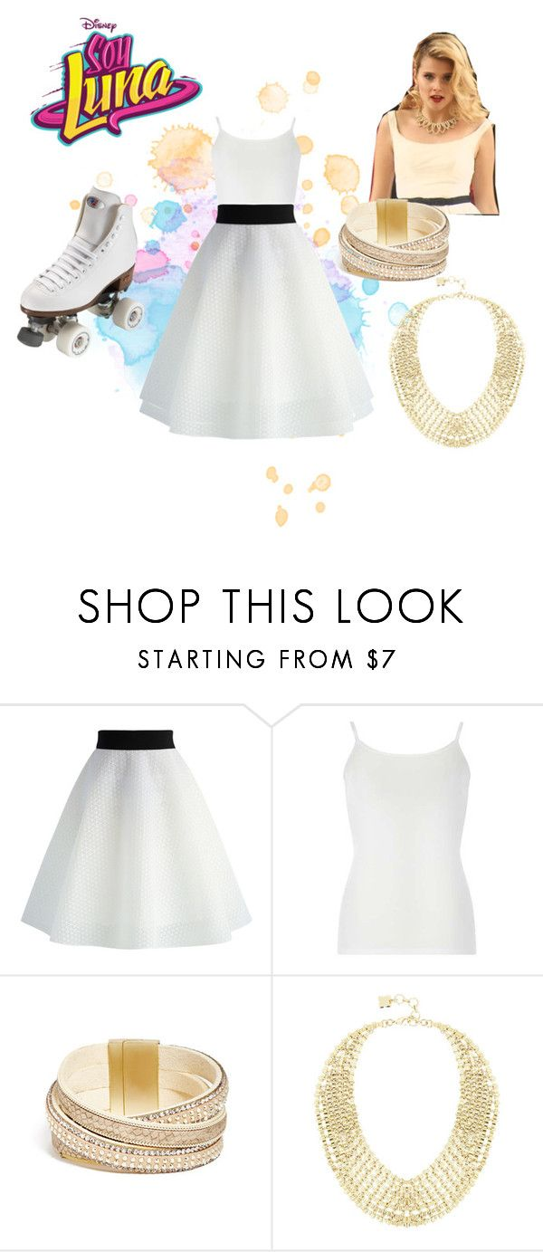 """soy luna"" by maria-look on Polyvore featuring Chicwish, Dorothy Perkins, GUESS, BCBGMAXAZRIA and Riedell"