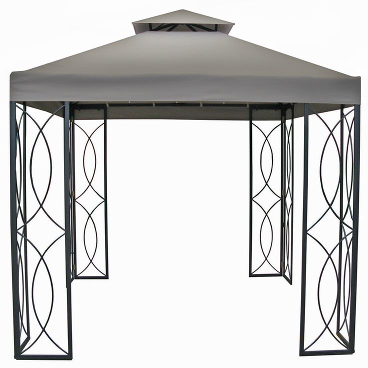 8x8 FT Steel Frame Gazebo With High Grade 300D Canopy