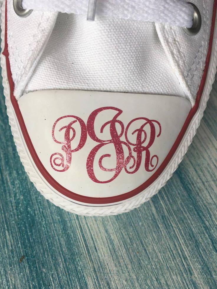 Converse monogram - custom monogram - wedding monogram for converse by CarlisCuttables on Etsy https://www.etsy.com/listing/472522149/converse-monogram-custom-monogram
