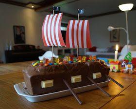 Rezept: Piratenschiff-Torte zum Maritime Kids-Geburtstag backen. Ein Kuchen …