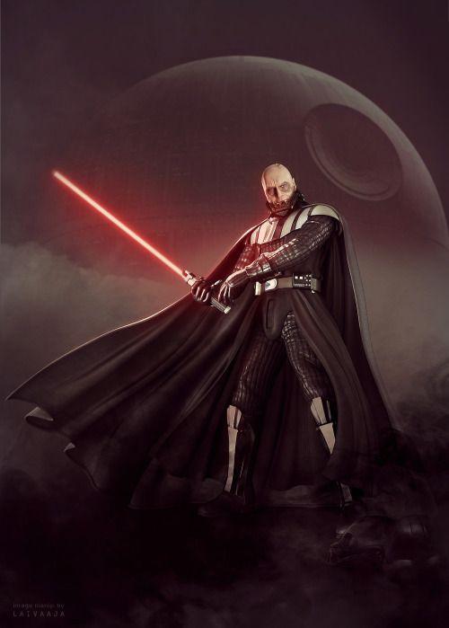 "laivaaja: ""#Darth Vader#star wars fanart#sebastian shaw#I know this would not happen but I had to create this edit#photo manipulaton#photo edit#i love darth vader#vader unmasked#helmetless vader"""