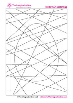 'Modern art' Easter coloring templates