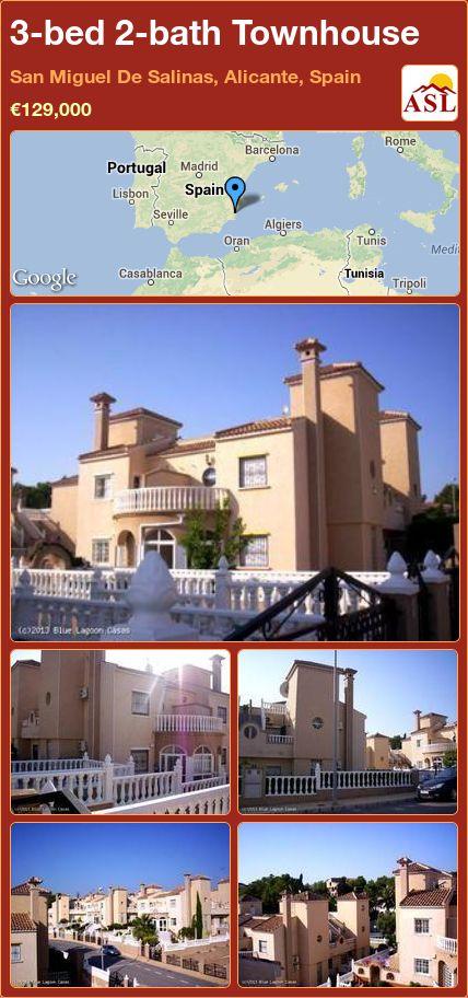 3-bed 2-bath Townhouse in San Miguel De Salinas, Alicante, Spain ►€129,000 #PropertyForSaleInSpain