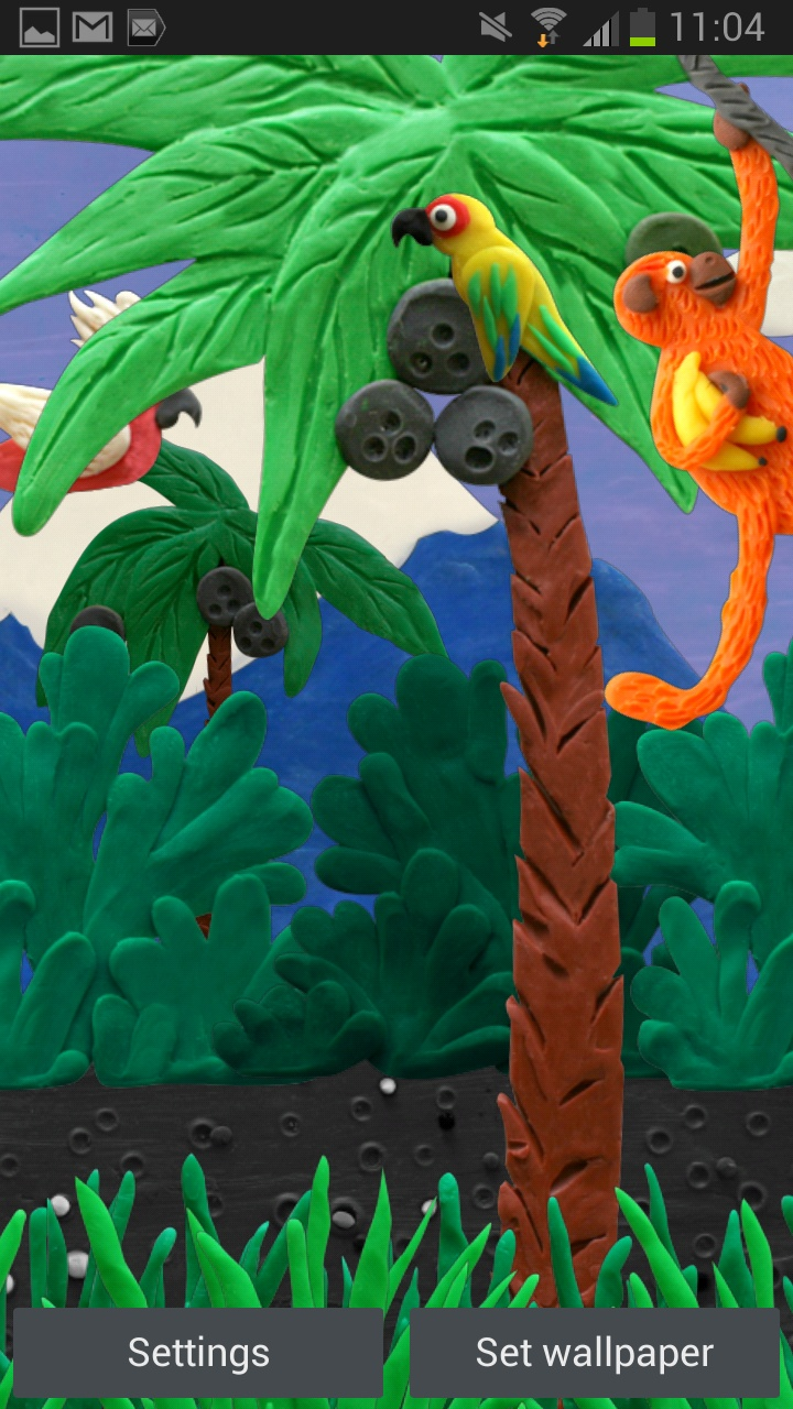 New Live wallpaper Plasticine Jungle
