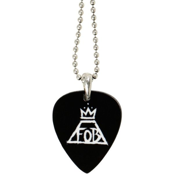 Hot Topic Fall Out Boy Pick Necklace ($6.80) ❤ liked on Polyvore featuring jewelry, necklaces, multi, silver tone necklace, guitar pick pendant necklace, bead pendant, bead jewellery and beading jewelry