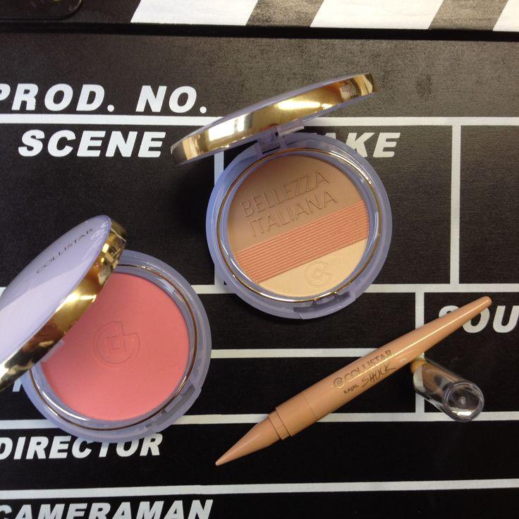 1° shooting: Bellezza Italian#Bonne Nine Effect Perfector#Silk effect maxi blusher n.20 Rosa Giuiletta#collistar shoot#shock kajal butter