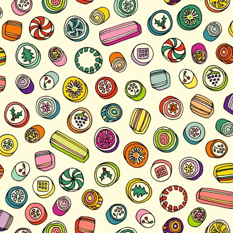 Old-Fashioned Candies fabric by pennycandy on Spoonflower - custom fabric