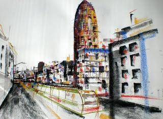 Urban Sketchers Spain. El mundo dibujo a dibujo.: Av. Diagonal - Barcelona