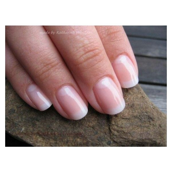 CND Shellac nail color Romantique# french manicure ❤ liked on Polyvore featuring beauty products, nail care, nail treatments and nail