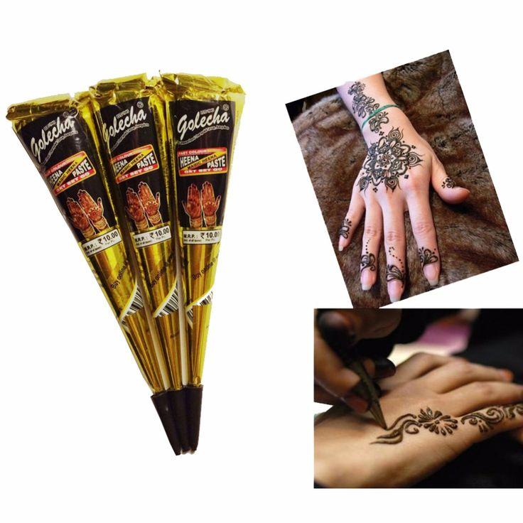 1 pz Nero Pasta di Hennè Tatuaggio Marrone Naturale Nero Indiano Henna Tatuaggi Pasta Crema Per Il Corpo Pittura Donne A7