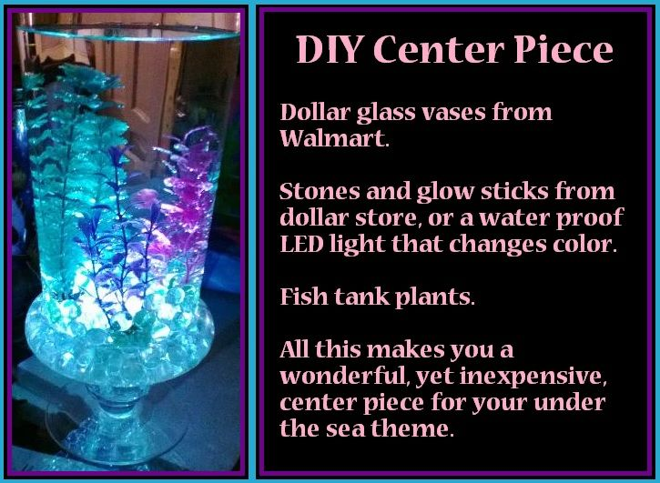 DIY Under The Sea Theme Center Piece