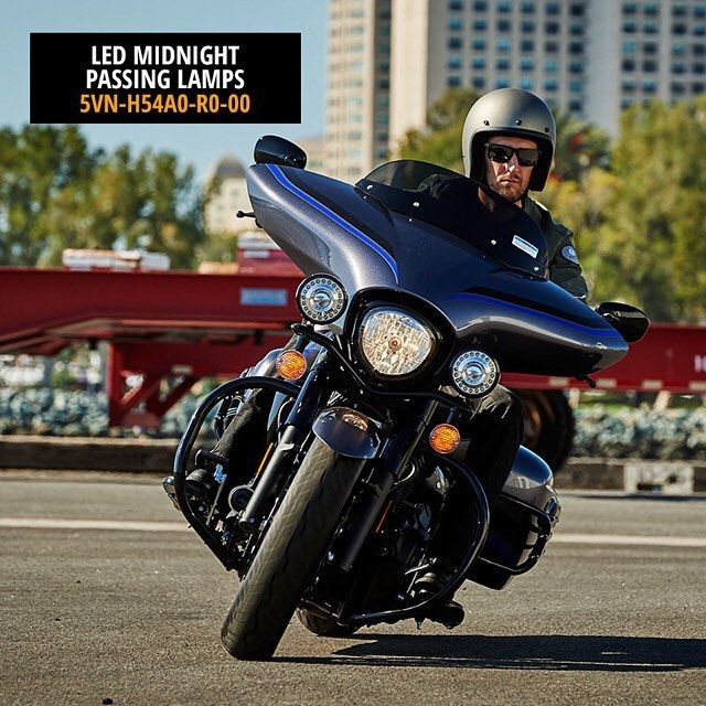 LED Midnight Passing Lamps for your #VSTAR1300 use less electrical energy saving you more power to ride and do what you love. Light up for less at your local Yamaha dealer and at shopyamaha.com...