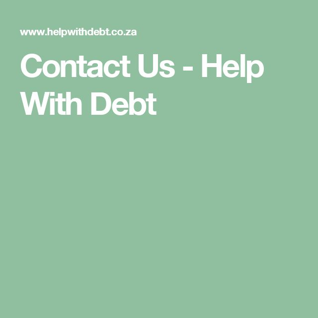 Contact Us - Help With Debt