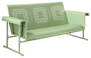 Veranda Sofa Glider in Oasis Green - contemporary - Outdoor Gliders - ivgStores