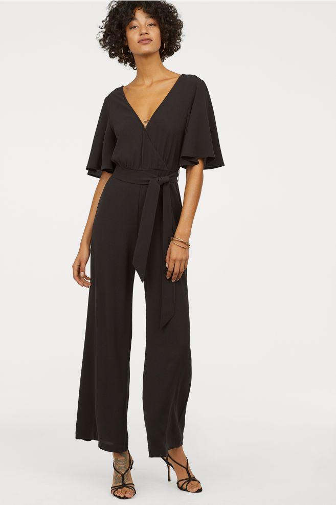 d39f978f904dbc H&M V-neck Jumpsuit - Black in 2019 | Pretty Modern Tomboy | Black ...