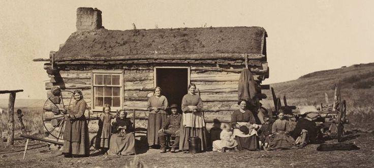 Мормонская семья в Великой долине Солт-Лейк, Юта (1869).  #история #США #Америка #мормоны