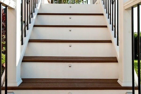 Trex Deck Stair Riser Lights In McHenry County Built By Rock Solid  Builders, Inc. | Trex Decks | Pinterest | Deck Stairs, Decking And Front  Steps