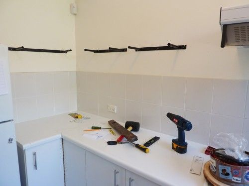 Diy Floating Shelf With Microwave Brackets Home Kitchen Pinterest Shelves Shelveicrowaves