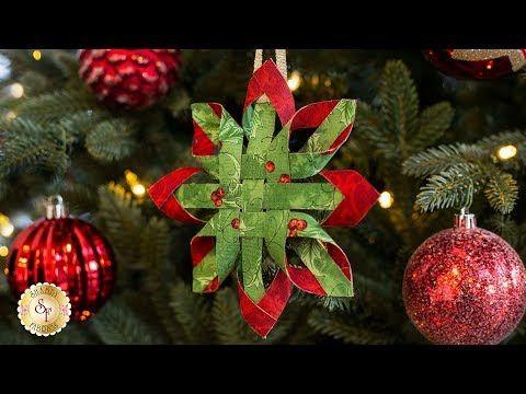 How To Make A No Sew Scandinavian Star Ornament Shabby Fabrics Tutorial You Fabric Christmas Ornaments Scandinavian Christmas Ornaments Christmas Ornaments
