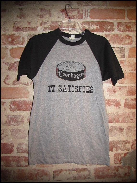 Vintage Deadstock 80's Copenhagen Snuff Chew Shirt by RackRaidersVintage, $20.00