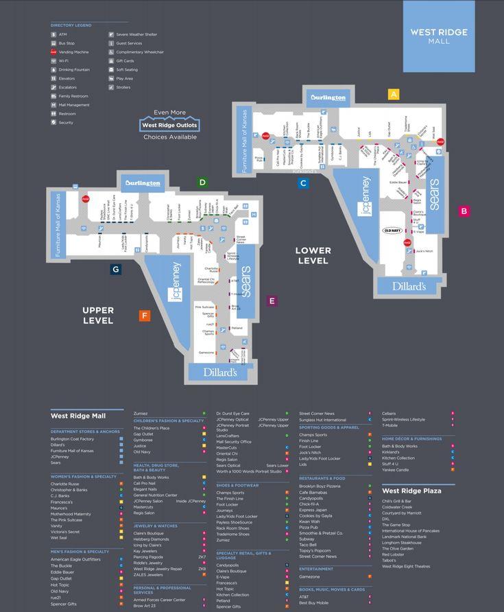 West Ridge Mall Shopping Plan Topeka Mall Mall Stores