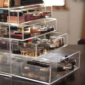 vanity organization ideas   simply cannot live without my Acrylic Makeup Organizer from 27Pinkx ...