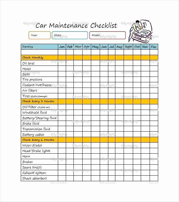 Vehicle Maintenance Schedule Template Elegant 27 Maintenance Checklist Templates Pdf Doc Maintenance Checklist Checklist Template Schedule Template