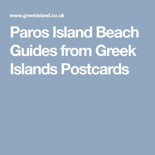 Paros Island Beach Guides from Greek Islands Postcards