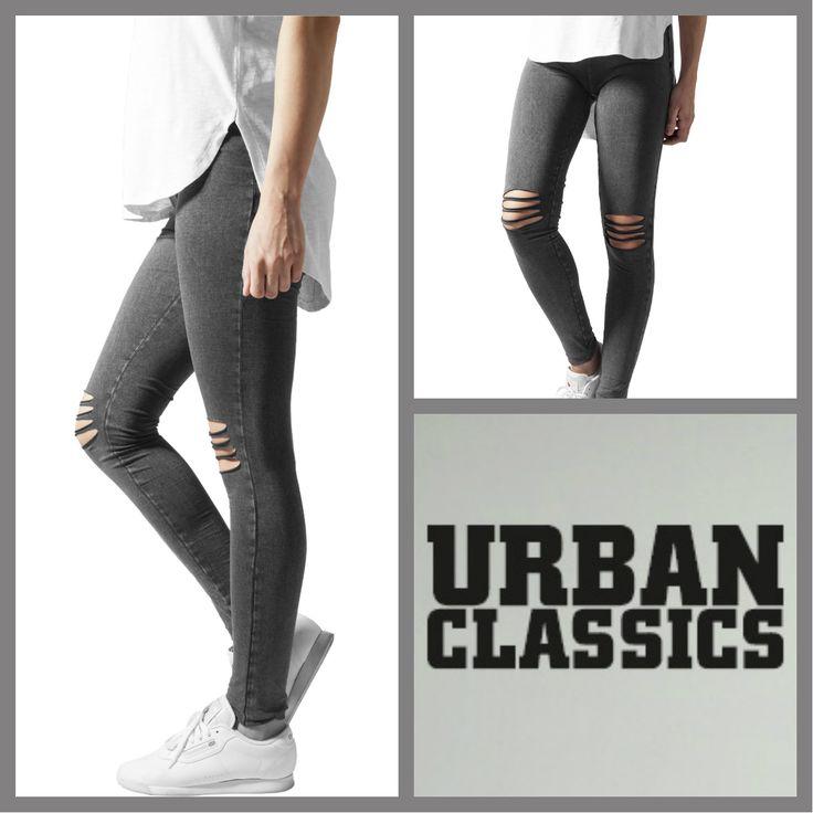 Urban Classics Deals  Ladies Cutted Knee Leggings    http://www.hoodboyz.co.uk/product/p166095_urban-classics-ladies-cutted-knee-women-leggings-black-grey.html