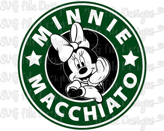 Minnie Mouse Macchiato Disney Starbucks Coffee Logo Cutting File / Printable Clipart in Svg, Eps, Dxf, Png, and Jpeg for Cricut & Silhouette