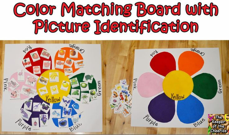 Toddler Color Matching Felt Board with Picture Identification – The Keeper of the Cheerios