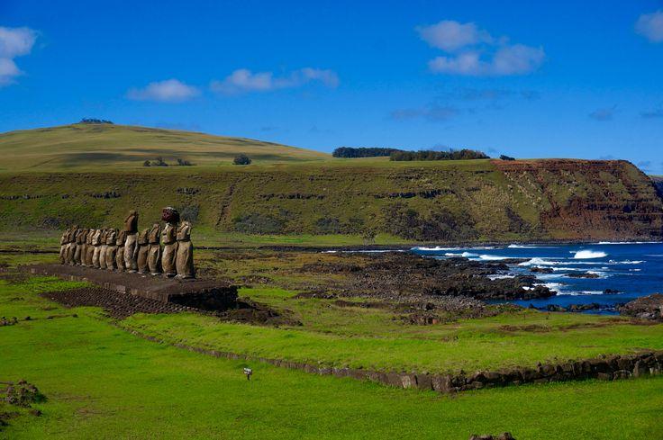 Ahu Tongariki, l'île de Pâques / Ahu Tongariki on Easter island