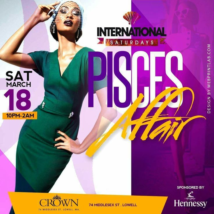 #TONIGHT ➡️All New #IntlSaturdays🌍Present #PiscesAffair  ⏰10p-2a Sponsored by #Hennessy  HipHop x Reggae x Afrobeats x Latin & More  ➡️#CROWN 74 Middlesex st. Lowell  FMI / VIP ☎️781.534.4115